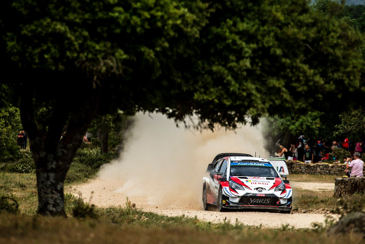 """SS16 Gala Flumini 1: 💭 """"We really tried to save the tyres but we didn't know what time the other guys would. It seems like we were quite okay so we can save the tyres a little bit more.""""  1️⃣ Mikkelsen 8:48.4 2️⃣ Evans +5.1 3️⃣ TÄNAK +5.5 4⃣ Latvala +7.4  #RallyItaly #GoOtt #WRC"""