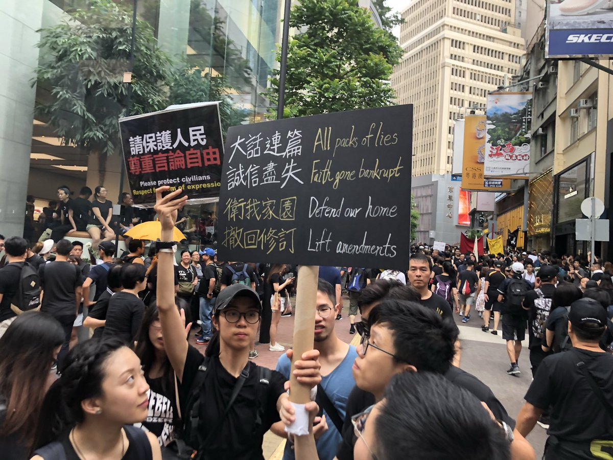 RT @Jay_Watt: Streets of Causeway Bay packed with  people in black ready for the #extraditionbill march in #HongKong https://t.co/BiB6pOkocI