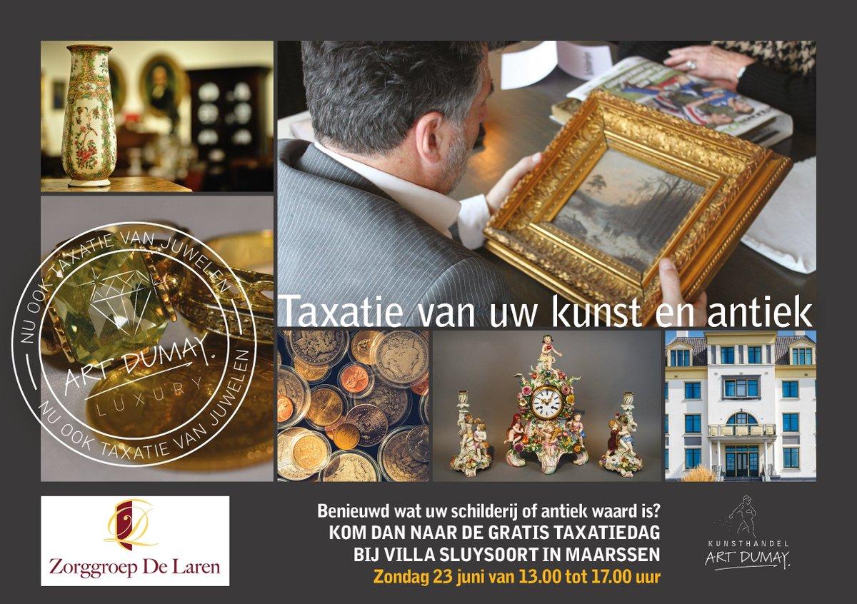 Altijd al willen weten wat uw #kunst of #antiek of #juwelen waard is/zijn? Gratis taxatie op zondag 23 juni in #Maarssen bij @VillaSluysoort van 13 tot 17 uur #Utrecht #OudZuilen #Breukelen #LeischeRijn #Overvecht