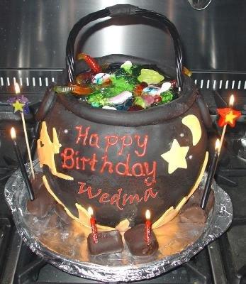 Открытка с днем рождения ведьма, новым годом