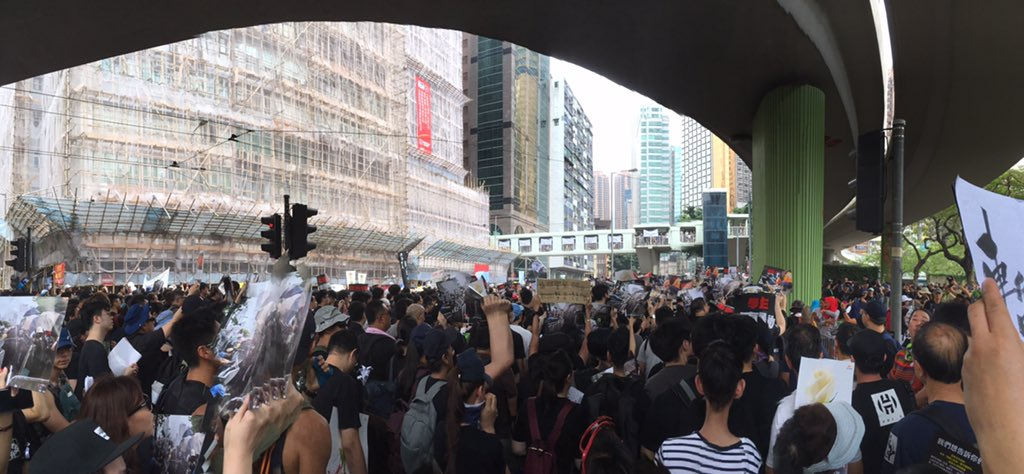 All people joining the rally calling for #WITHDRAWAL NOT #suspension of the #ExtraditionBill #HongKong