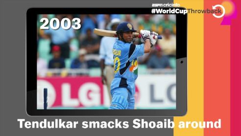 Few shots are as memorable as THAT six Sachin hit off Shoaib Akhtar You think well see more such moments today? #CWC19 #INDvPAK