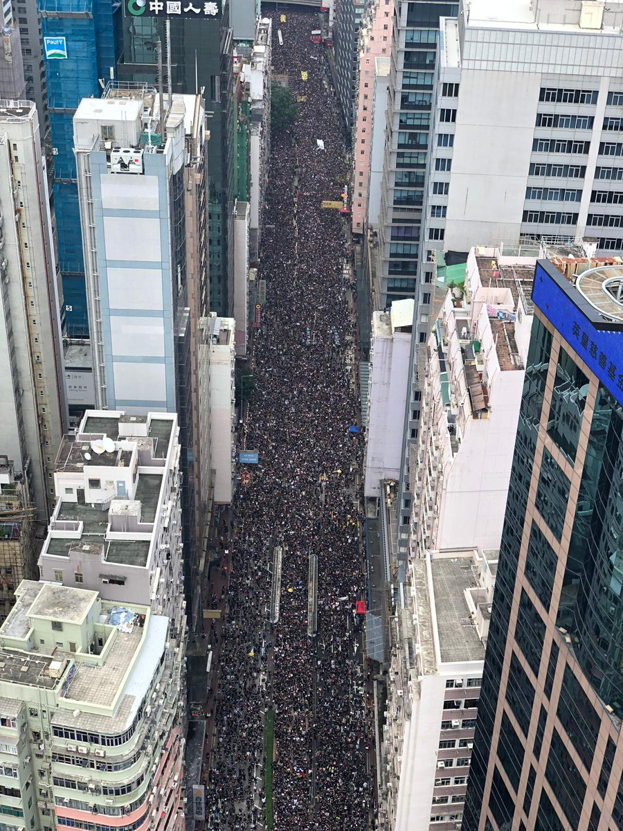 #LIVE: This is what today's protest looks like from above http://sc.mp/66yx  #extraditionbill