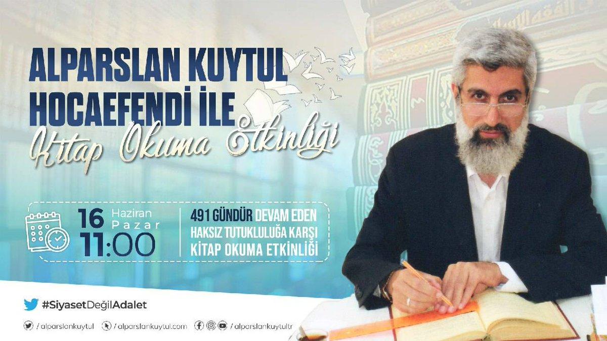 Alparslan Kuytul Hocaefendi ile kitap okuma etkinliği devam ediyor.  #Pazar  #HerPazar  #ZulümBiteneKadar https://t.co/bt6L66cLay