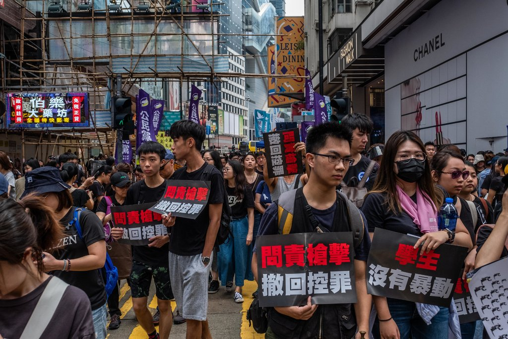 Having halted a bill allowing extradition to lawless China, Hong Kong protesters now call on the city's chief executive to resign and condemn the police for their use of violence. https://trib.al/F4nw5wI