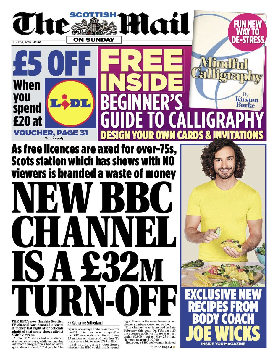 Some programmes on BBC Scotland channel get zero viewers, Mail on Sunday reveals: