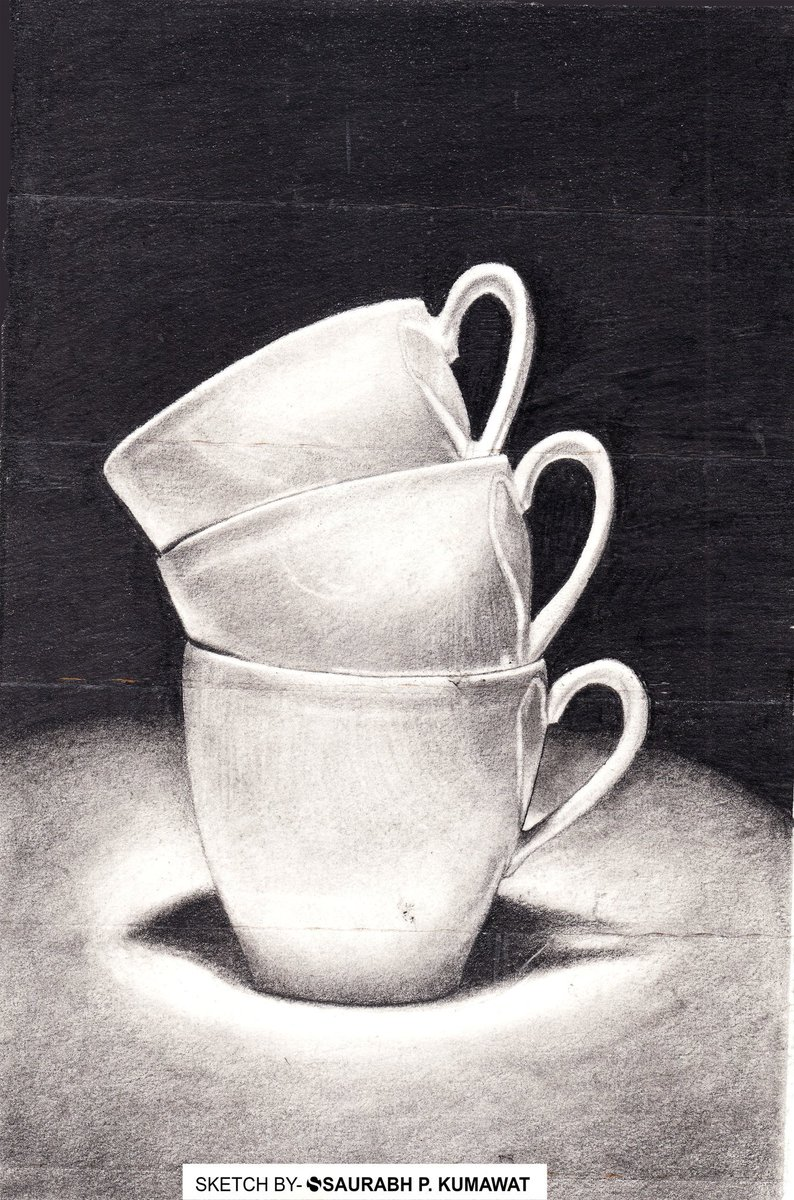 Still life cups drawing. #stilllife #cup #drawing #sketching #art https://t.co/RLXWOUF5Dc