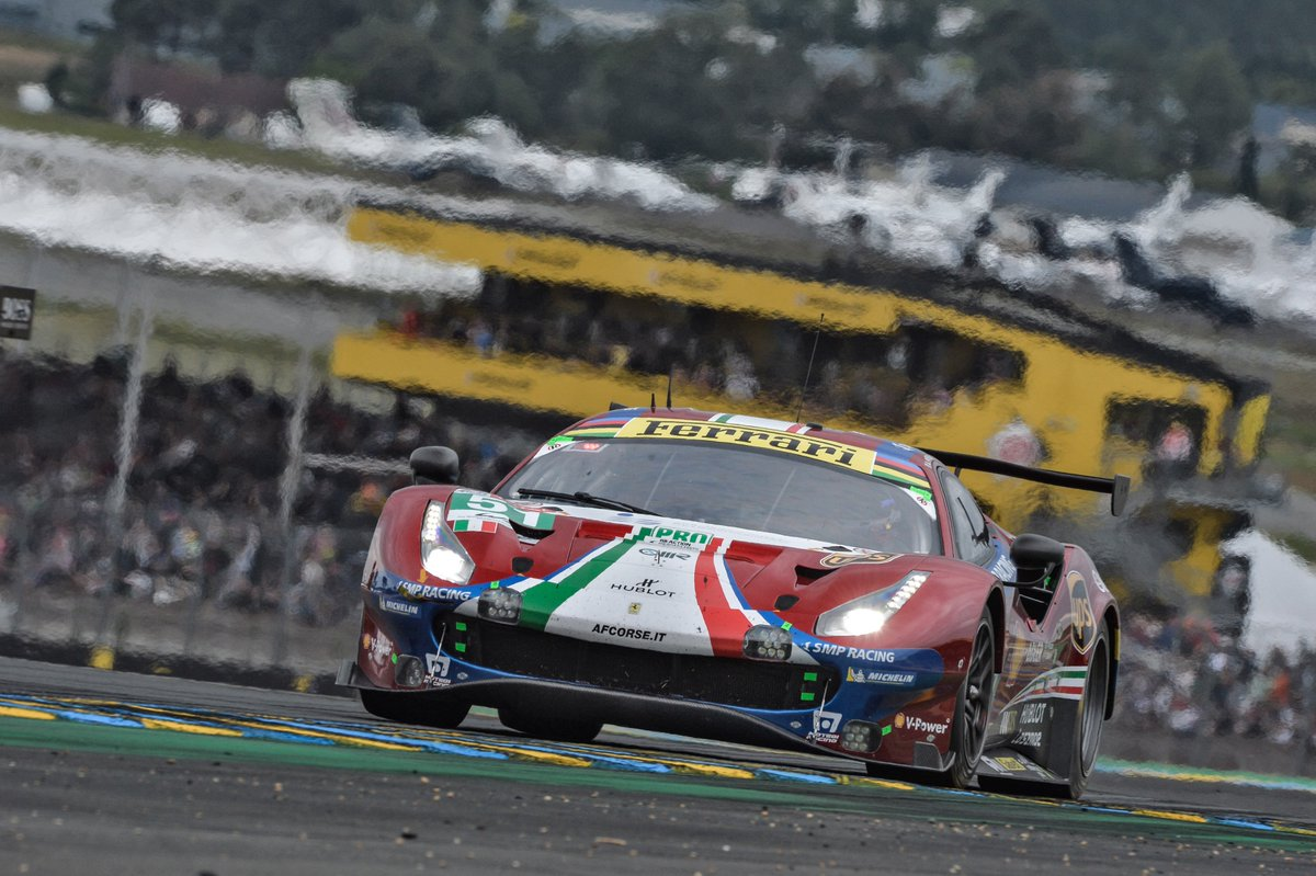 .@FIAWEC WE DID IT! #Ferrari wins @24hoursoflemans for the 36th time (9 outright + 27 class wins)! BRAVISSIMI RAGAZZI @afcorse #51 #488GTE @DanielSerra29 @CaladoJames @Ale_PierGuidi! You're now in the history books of this legendary race! 🥇🏆🇮🇹 #FerrariCompetizioniGT #LeMans24H