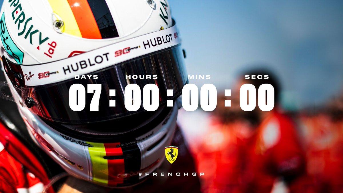 Plus qu'une semaine! One week until we're racing at @PaulRicardTrack in France 🇫🇷 #essereFerrari 🔴 #FrenchGP