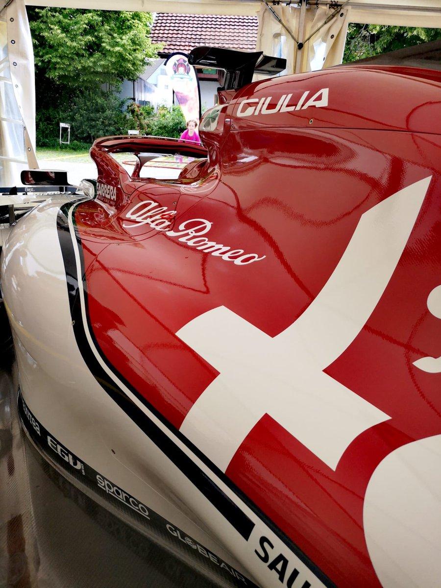 Celebrating the 100th anniversary of the Hinwil Trade Association 🎂🎈  #GetCloser #AlfaRomeoRacing #SauberMotorsport #Switzerland