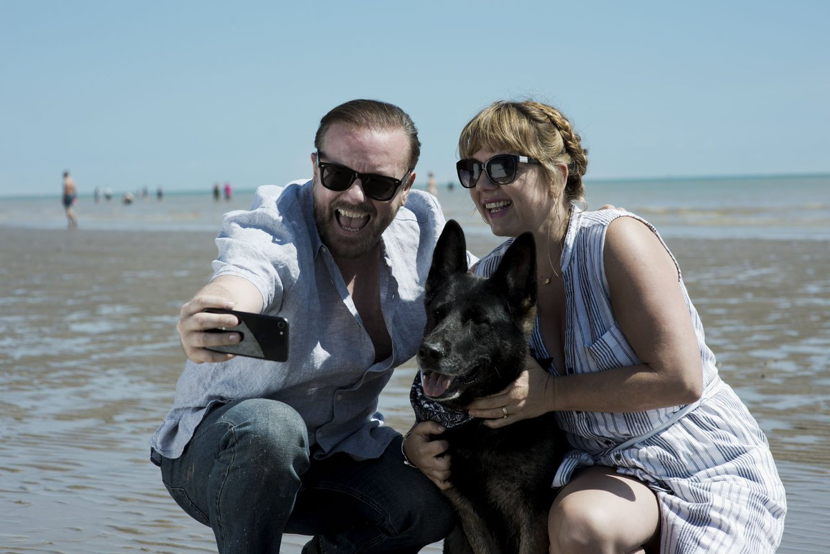 The most overwhelming thing that has come from people talking to me about #AfterLife is the realisation that everyone is grieving to some extent. Its so lovely that they bother to say such nice things about the show too. Thank you.