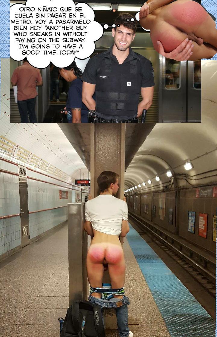 """Azotes Al Culo nalgonesrojos on twitter: """"colarse sin pagar en el metro"""