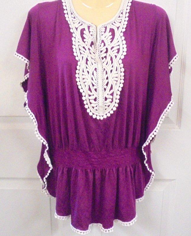 Dress Barn Petite PM Purple Long Top White Lace Trim Spandex Elastic Waist | eBay https://t.co/aUz8JVFMkV https://t.co/a6DD2uqCOg