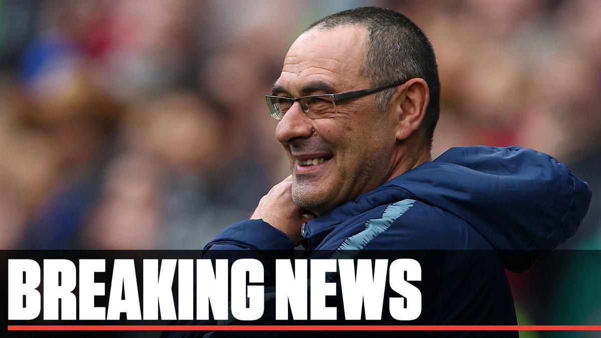 BREAKING: Maurizio Sarri leaves Chelsea to take over at Juventus.