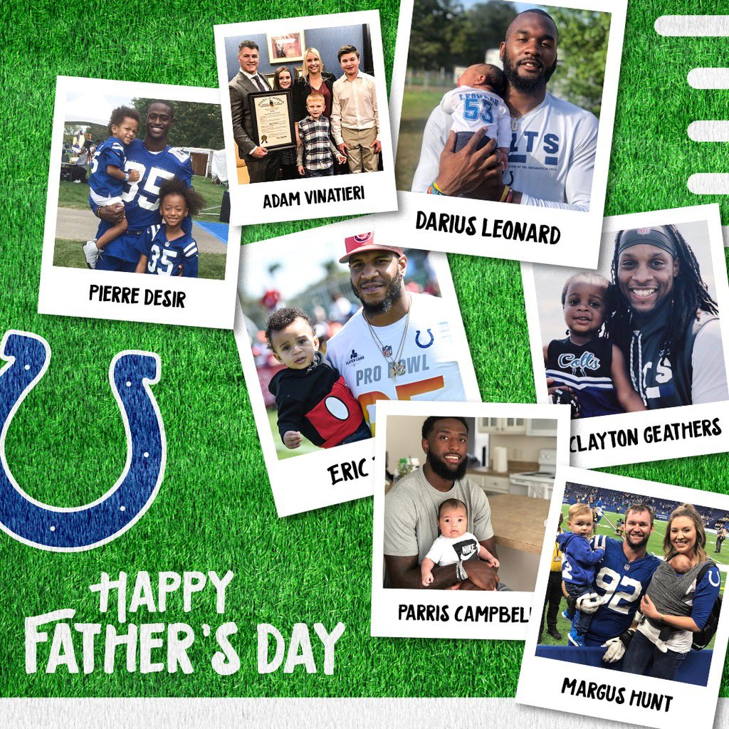 When being a professional football player is your second-favorite job. 💙 #NFLDads