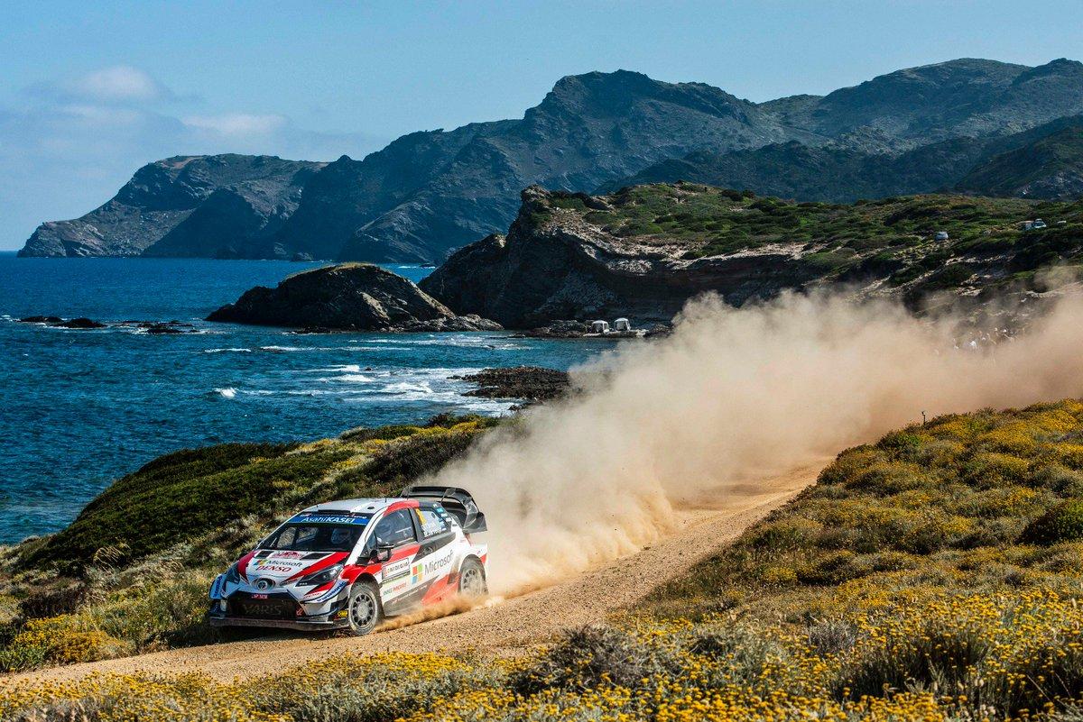 """SS18 Cala Flumini 2: 💭 """"The priority is to get to the end.""""  1️⃣ Mikkelsen 8:34.8 2️⃣ Evans +3.3 3️⃣ Sordo +3.4 4⃣ TÄNAK +5.4 5⃣ Suninen +11.8  #RallyItaly #GoOtt #WRC"""