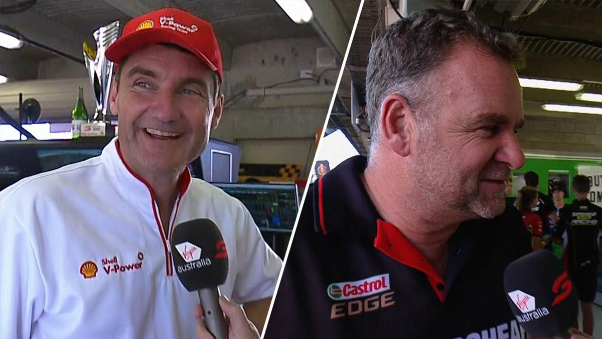 Trackside: Crompton checks in with Ford teams. #VASC  🎥 http://bit.ly/2N4Ws1t