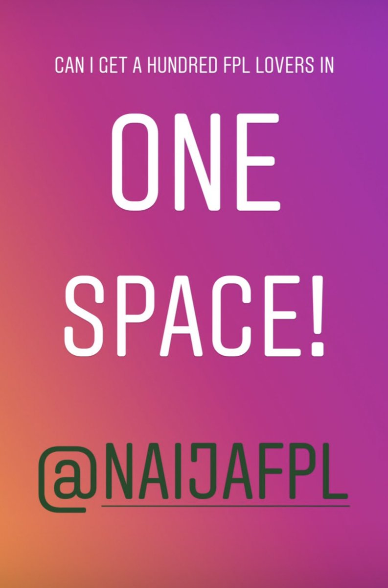 Do you think you have what it takes to be a manager? Waste no time join this space, show your dominance😁#naijafpl #fpl #PLfixtures @NaijaFpl