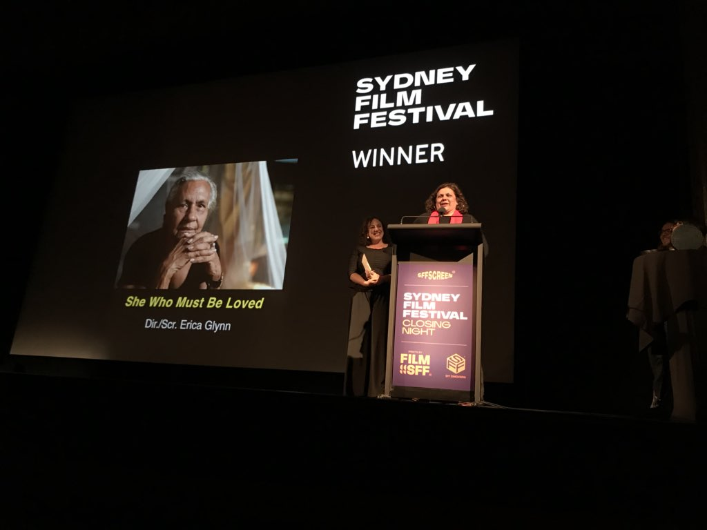 """""""Let's talk about good taste... The good taste of @ScreenAustralia and @NITV for coming on board at the first instance."""" Congratulations Erica Glynn and team!"""
