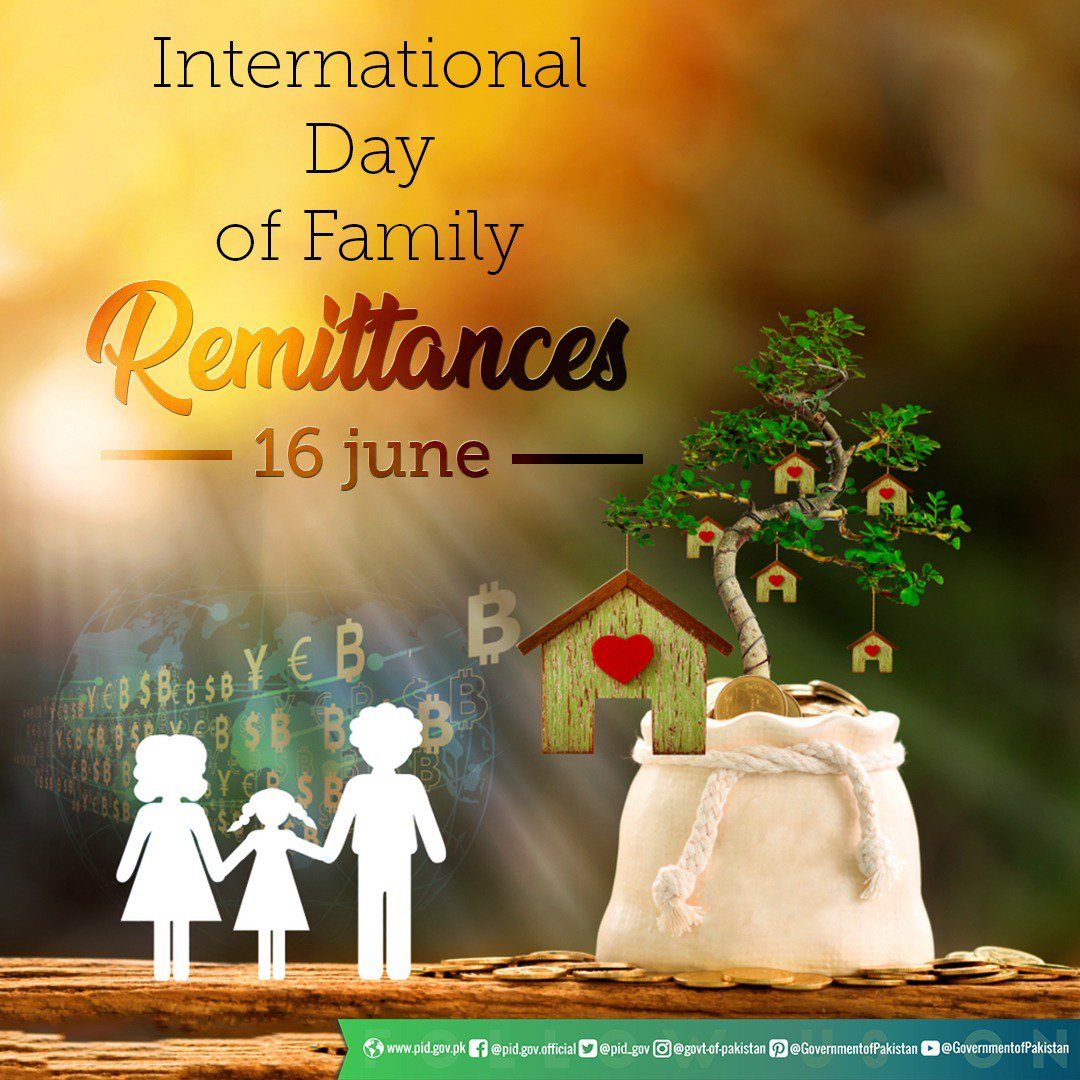 16th of June is being celebrated as International Day of Family Remittances. The day recognizes and raises global awareness of the critical contributions that migrants around the world make for the well-being of their families.