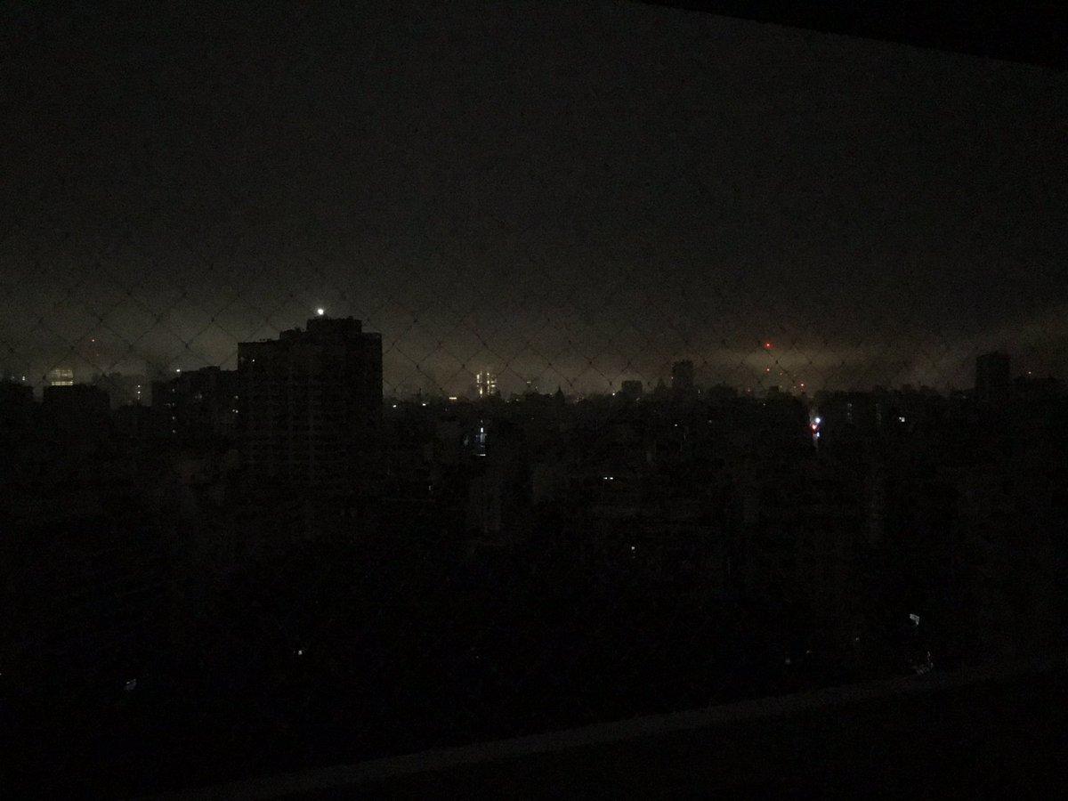 El apagón en la Ciudad de Buenos Aires es enorme. Tremendo corte de luz.
