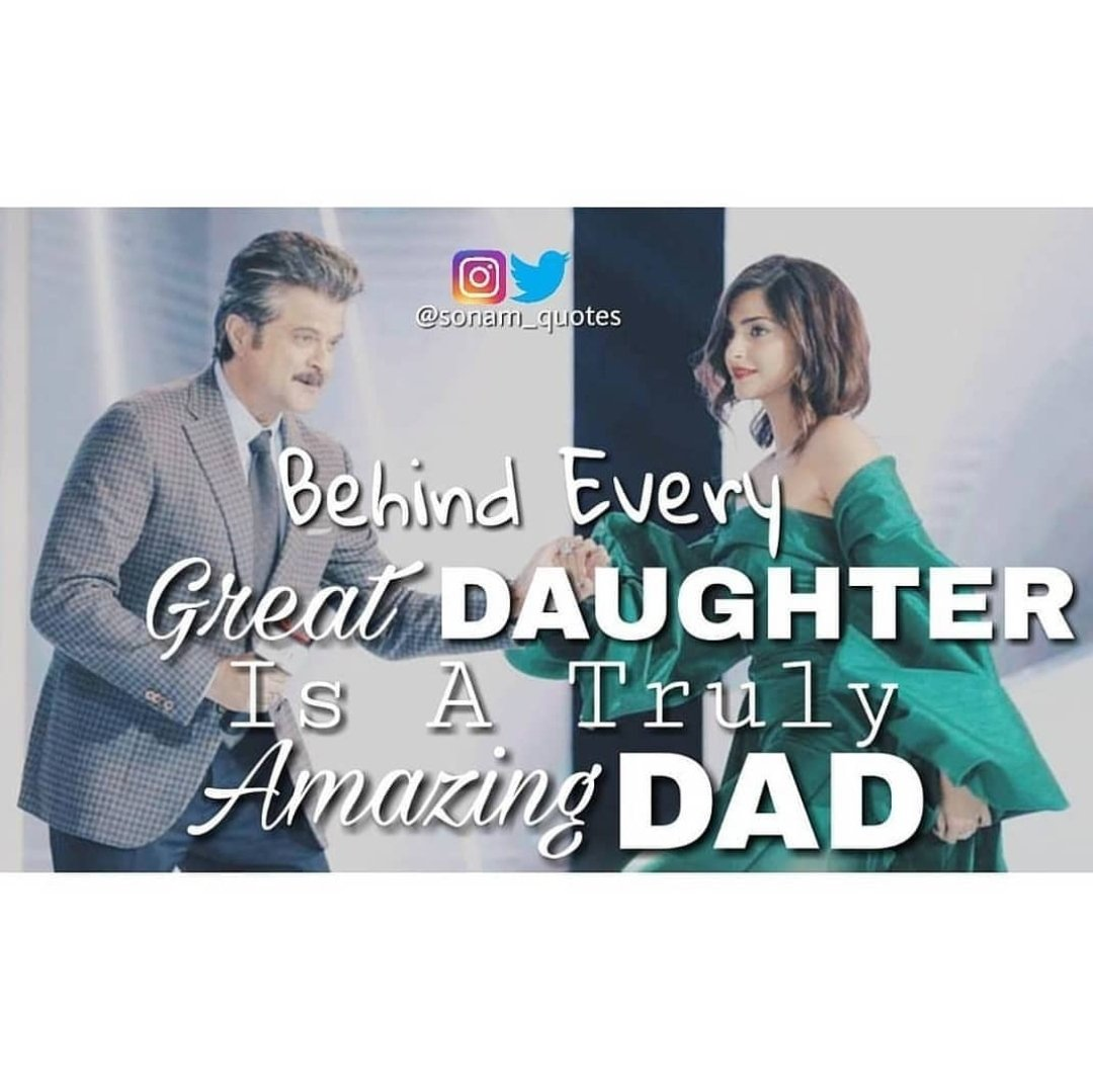 Behind every GREAT DAUGHTER ( @sonamakapoor ) is a truly AMAZING DAD ( @AnilKapoor ) 👨👧  #HappyFathersDay  #HappyFathersDay2019  #DaddyDaughter  #SonamKapoor