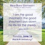 [CALENDAR] #DailyMotivation from John 10:11. #HPU365