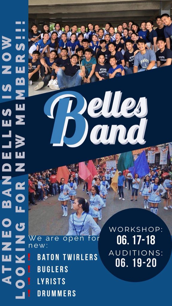 Bring your own bugle, drumsticks and baton during workshops and auditions. See you!! <br>http://pic.twitter.com/6FpbwzmBNm