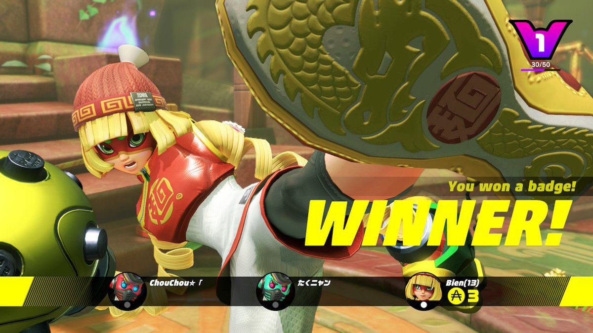 I replayed #ARMS after 3 years and don't know how i got this good #NintendoSwitch
