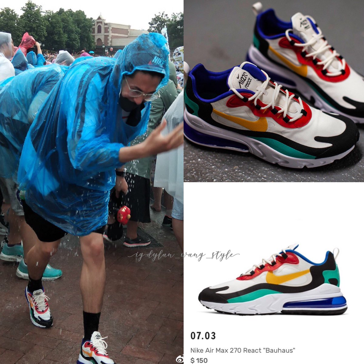 the best attitude 602b8 c99c5 dylan_wang_1220 drenched in Disney. Seen wearing these pair ...