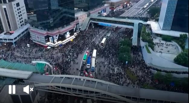 #extraditionbill #HongKongProtest 香港・金鐘、政府庁舎前の現在の状況