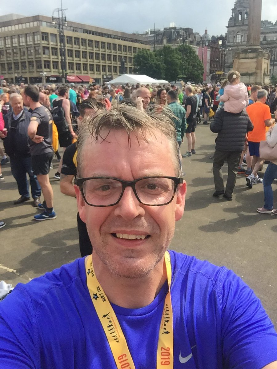 Thanks to everyone who helped put on a fabulous Glasgow men's 10k this morning. And well done to all the runners, especially the Dads out there this Father's Day. Tremendous stuff.