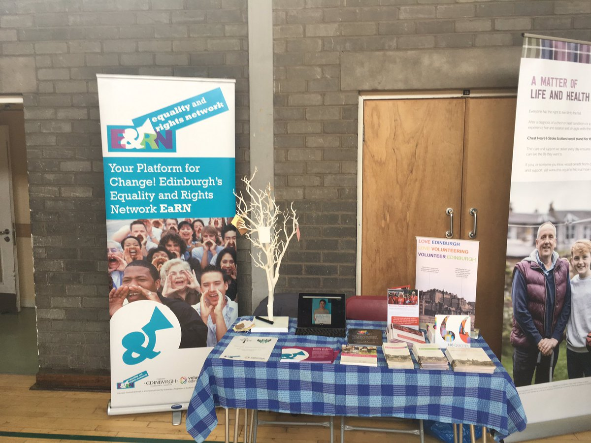 We are with @EaRNnetwork today at Northfield Coomunity Centre- come down and find out about volunteering in your community. #LoveVolunteering #VolunteerEdinburgh