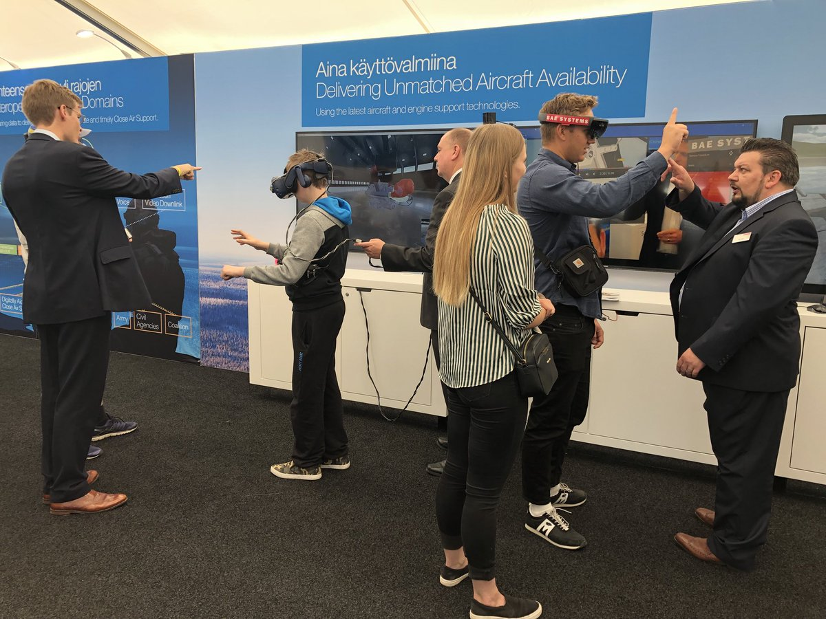 Our virtual reality zone has been popular over the weekend at #Turkuairshow! Come and see what the inside of a Rolls Royce engine looks like and learn how ground crews can use the kit to maintain #Eurofighter  #EurofighterSuomelle #Europeansolution
