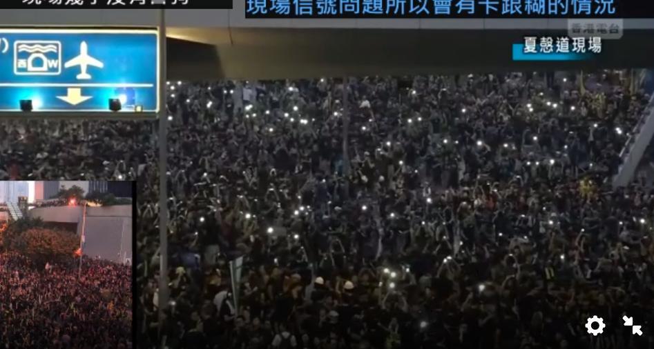 #extraditionbill #HongKongProtest 政府庁舎前。完全占領状態。デモのはずがオキュパイになってしまった…戴耀廷香港大准教授が「愛と平和のオキュパイセントラル」って言ってたのは、これのことだったんじゃないのか。