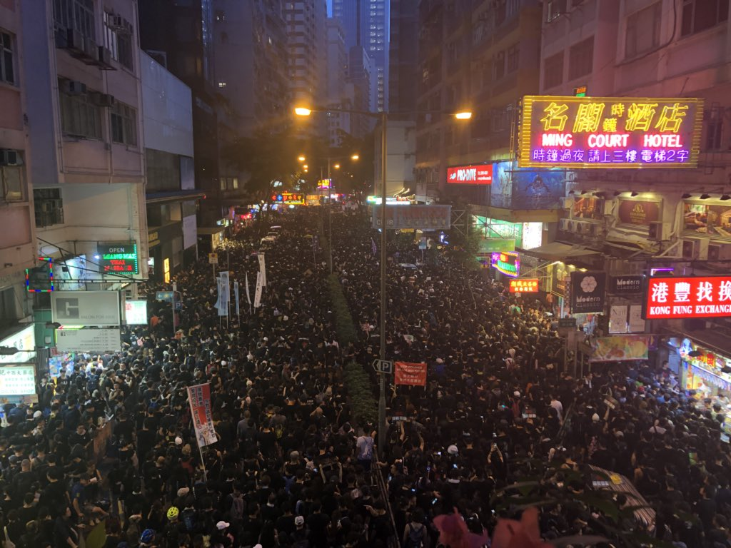 Every street we pass is filled with protestors #hongkong