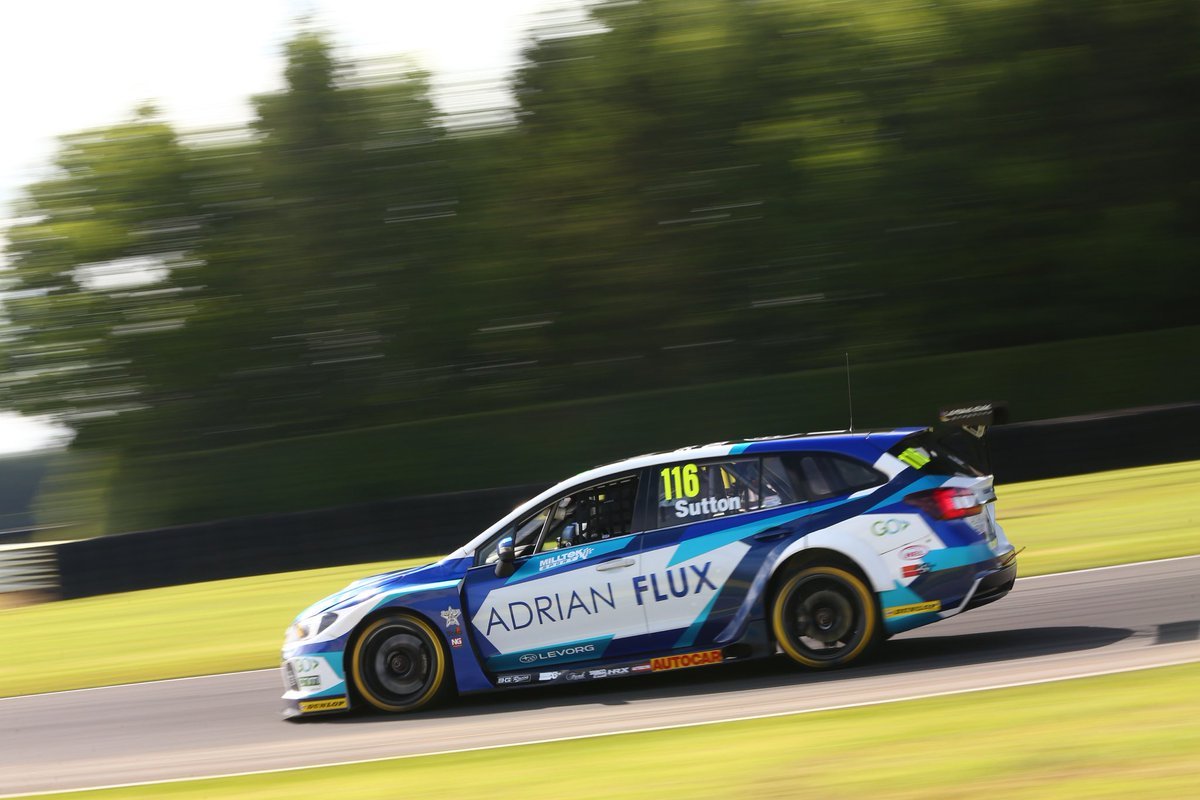 The chequered flag is waved and @ASuttonRacing settles for seventh after a continuous fight with Cammish. His second race of the day will be live on @ITV4 at 14:40. #BTCC