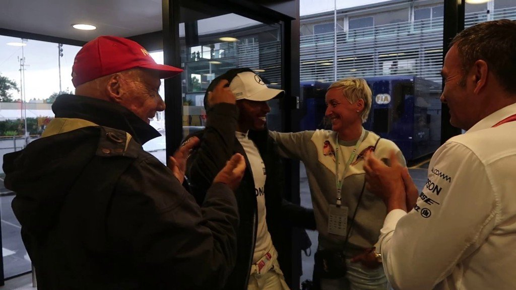 #F1:Unpublished video - Niki Lauda & Lewis Hamilton after the Pole Position Record in F1 https://t.co/A5nw83cw8T https://t.co/NZU01qklGc