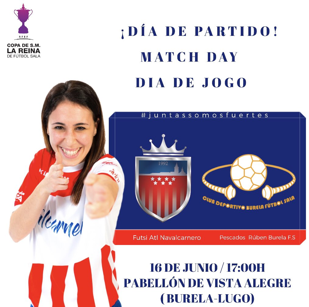 🚨𝗖𝗼𝗽𝗮 𝗦.𝗠. 𝗟𝗮 𝗥𝗲𝗶𝗻𝗮 👸🚨 Todo preparado para la gran final de esta tarde!   @futsi_atletico  vs @burelafs   ⏰ 17.00 🏟️ Vista Alegre 📺 @TVGalicia  💻 @rfef  👇🏽 https://youtu.be/q0iDpFF7jzw  #juntassomosmasfuertes