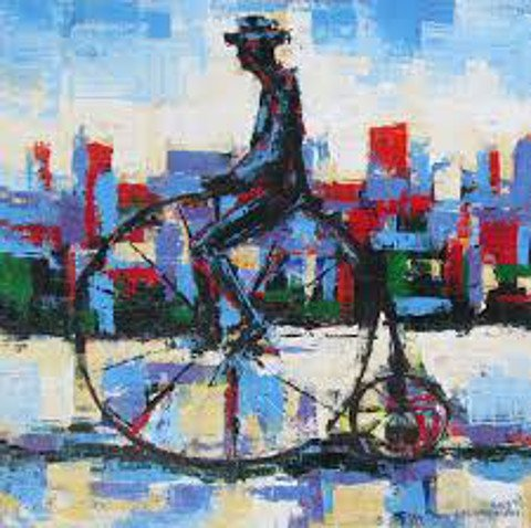 """#bookquotes """"The bicycle is the most civilized conveyance known to man. Other forms of transport grow daily more nightmarish. Only the bicycle remains pure in heart."""" --'The Red and the Green', Iris Murdoch  (Image credit: © Nikola Golubovski) <br>http://pic.twitter.com/ZFULPsJwXS"""