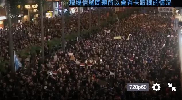 #extraditionbill #HongKongProtest しばらく止まっていましたが、ワンチャイのデモ隊が動き出しました