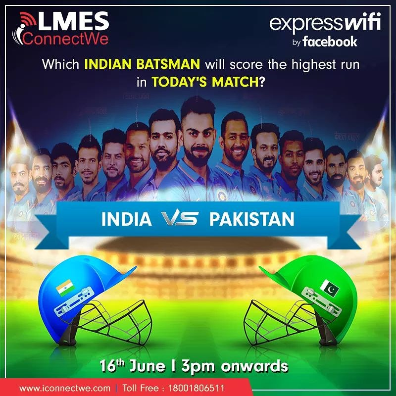 Pen down your prediction and tell us which Indian Batsman will smash the Pakistani bowlers in today's match?#WorldCup2019 #bleedblue #cricketcontest #Worldcup19 #Contest #ICCCWC2019 #INDvsPAK #indvspak2019