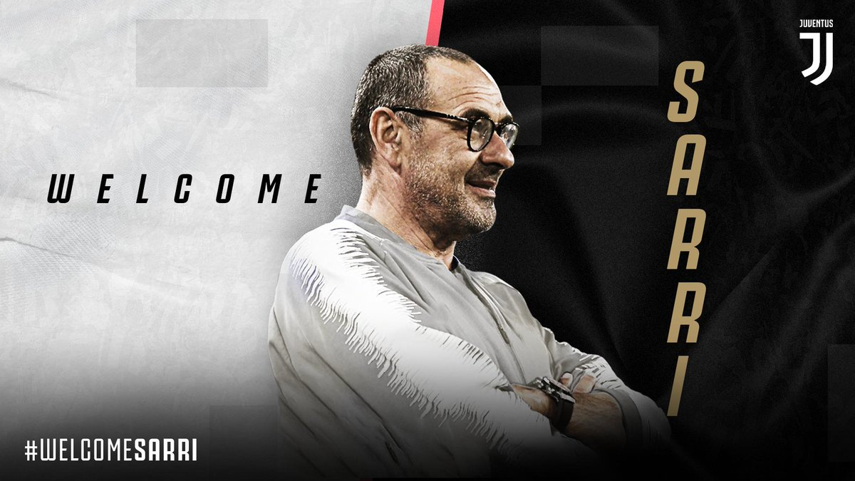 OFFICIAL | Maurizio Sarri is the new Juventus coach. #WelcomeSarri  ➡️ http://juve.it/D8l030oWTGB