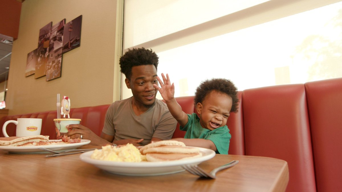 The Viral Dad and Baby From THAT Adorable Video Melt Hearts Again in a Denny's Commercial