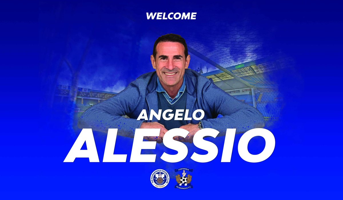 Kilmarnock Football Club is delighted to announce Angelo Alessio as the club's new manager.  Angelo has worked as Antonio Conte's assistant at Juventus, Chelsea FC and the Italian National Team.  ✍️ http://bit.ly/31B47HV #Killie150