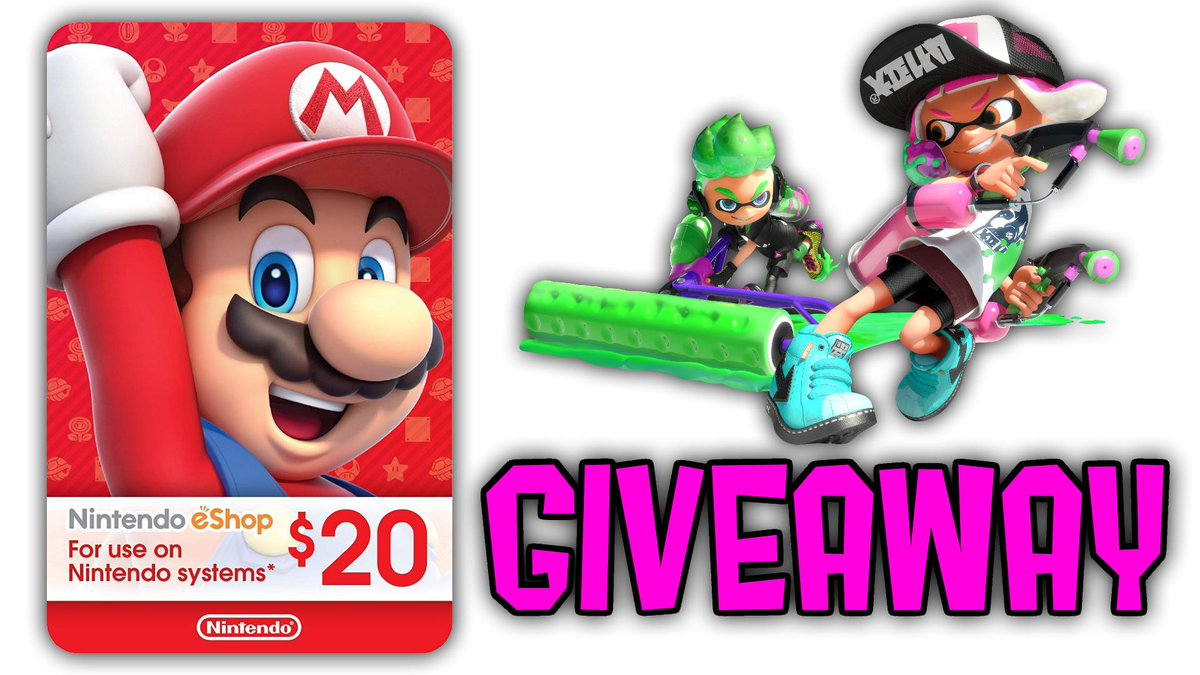 GIVEAWAY: To celebrate the upcoming #FinalSplatfest, we are giving away a $20 ESHOP CARD!    You can use this to purchase Nintendo Switch Online, the Octo Expansion DLC, or anything else you desire on the Nintendo eShop!  JOIN HERE: https://gleam.io/Ll9N5/splatoonnews-final-splatfest-20-eshop-giveaway…