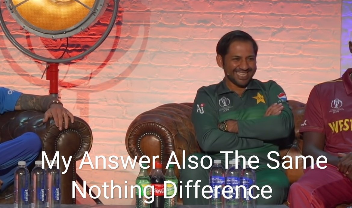 Faf du Plessis : We lost against India Aaron Finch : We also lost against India Sarfaraz Ahmed :