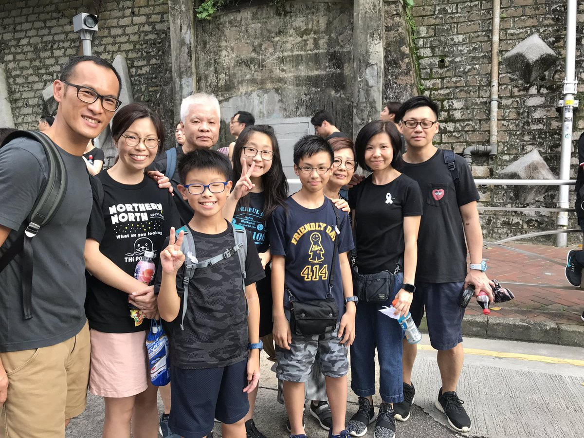 Many stories coming out from Hong Kong's peaceful demonstration. I'd like to share one. I met a family of nine, spanning three generations. The grandfather marched last Sunday. Today the whole family decided to come out together after witnessing events that unfolded this week