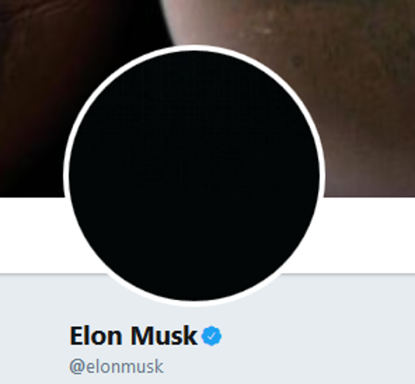 "I CANT FUCKING BELIEVE ELON MUSK IS DOING THE SAD ""DRAMATIC"" DARK AVATAR THING LIKE A 15 YEAR OLD ON SKYPE LMFAO"