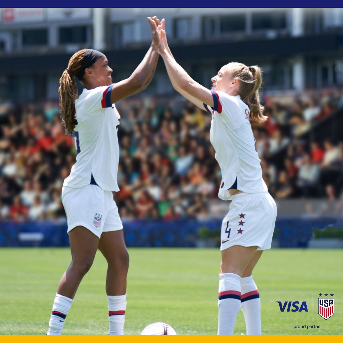 Never in doubt. The @USWNT delivers a big win against Chile, because, well, that's what they do best.  Visa. Proud partner of the U.S. Women's National Team.